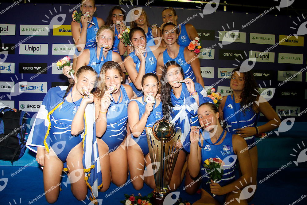 ITALY - GREECE  ITA-GRE<br /> GOLD MEDAL MATCH   LEN Women European Under 19 Water Polo Championships<br /> Ostia (RM), Italy 2014  Sept.7 th - Sept.14th<br /> Day 8- Sept.  14<br /> Photo P.Pizzi/Deepbluemedia