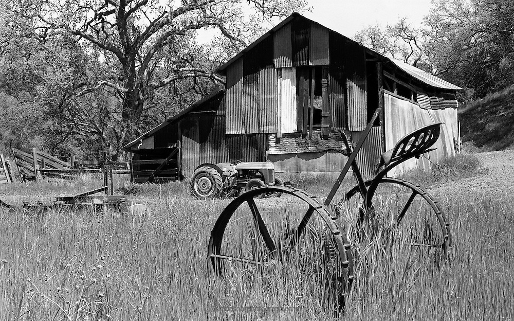 Farm Implement and barn