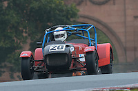 #20 Tim Woodman Caterham 7 2000 during the CSCC Gold Arts Magnificent Sevens at Oulton Park, Little Budworth, Cheshire, United Kingdom. October 15 2016. World Copyright Peter Taylor/PSP. <br /> Copy of publication required for printed pictures.  Every used picture is fee-liable. http://archive.petertaylor-photographic.co.uk
