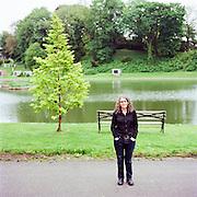 BROOKLYN - MAY 17 2011: Canadian Poet Rachel Zolf in Brooklyn, New York.