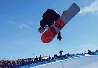 Snowboard. Snøbrett. Halfpipe. OL 2002 Salt Lake City. Ross Powers fra USA. Gull. 11.02.02.<br />Foto: Uwe Speck, Digitalsport.