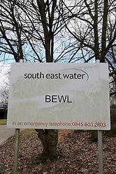 © Licensed to London News Pictures. 21/02/2012.Bewl water reservoir in Lamberhurst Kent.Much of southern and eastern England is officially in a state of drought, the Department for Environment, Food and Rural Affairs (defra) has announced.The announcement came as Environment Secretary Caroline Spelman hosted a drought summit.In parts of south-east England groundwater levels are lower than in the infamously dry summer of 1976..Photo credit : Grant Falvey/LNP