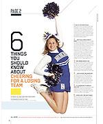 Northwestern Cheerleader for ESPN The Magazine
