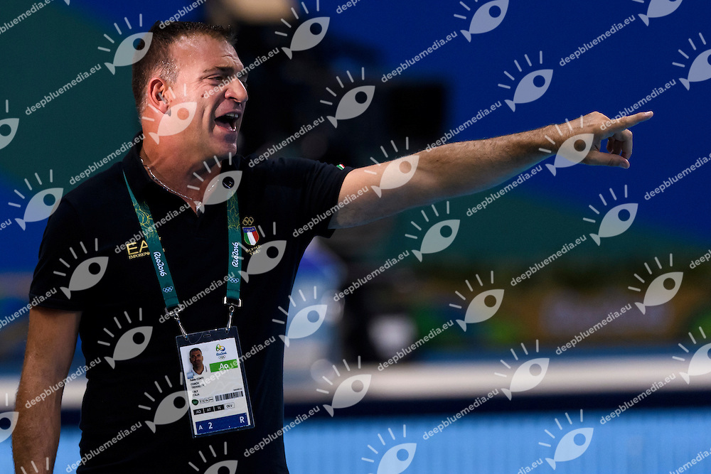CONTI Fabio Italy<br /> Rio de Janeiro 19-08-2016 Olympic Aquatics Stadium  - Water Polo <br /> USA - ITALY Final <br /> Foto Andrea Staccioli/Deepbluemedia/Insidefoto