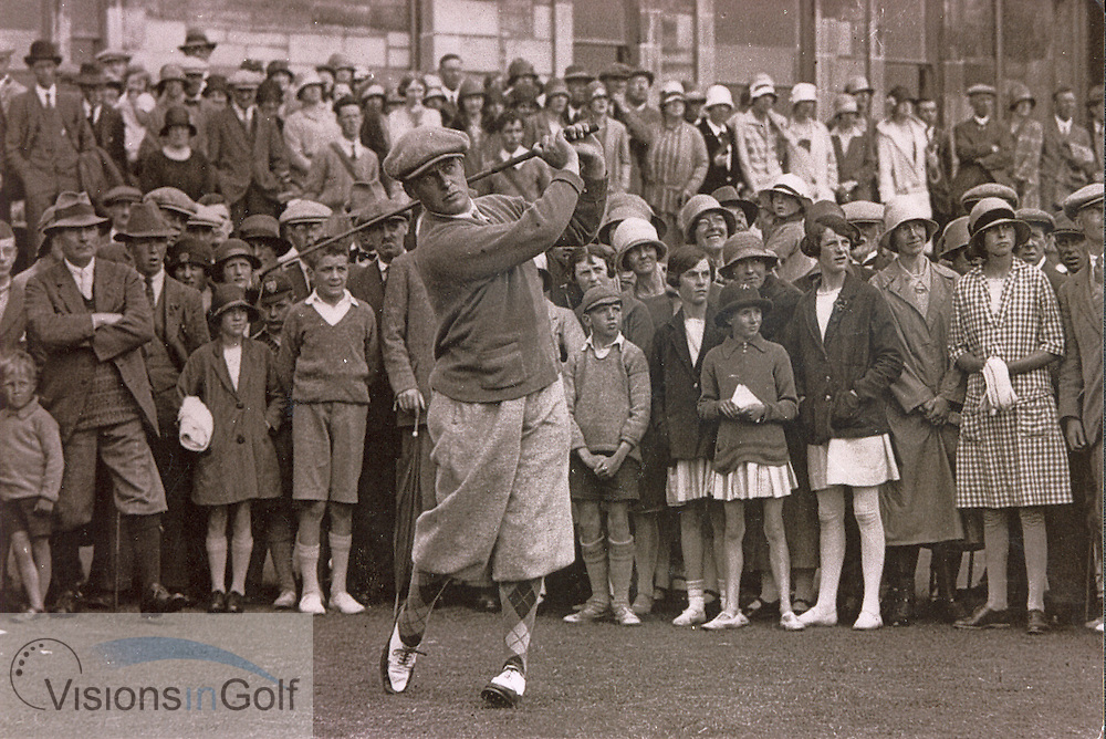 Bobby Jones at The Open Championship 1927 at St. Andrews<br /> Picture Credit: &copy;Visions In Golf / Michael Hobbs / Mark Newcombe