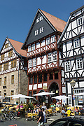 Fachwerkhäuser, Marktplatz, Altstadt, Fritzlar, Nordhessen, Hessen, Deutschland | market square, old town, Fritzlar, Hesse, Germany