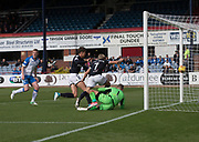 16th September 2017, Dens Park, Dundee, Scotland; Scottish Premier League football, Dundee versus St Johnstone; Dundee's A-Jay Leitch-Smith scores on his home debut for 1-0
