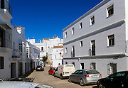 Modern housing in village whitewashed houses Vejer de la Frontera, Cadiz Province, Spain