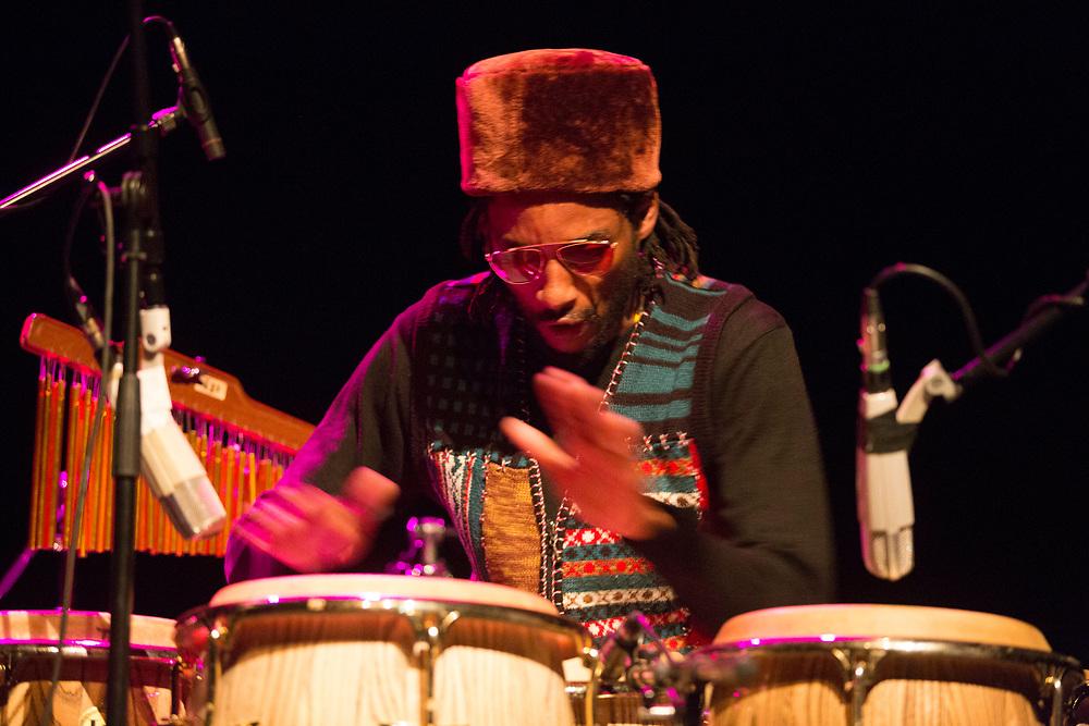 Frankfurt | Hessen | Deutschland | 29.10.2017: Das 48. Deutsche Jazzfestival Frankfurt 2017<br /> <br /> hier: Shabaka &amp; The Ancestors<br /> <br /> Shabaka Hutchings | Tenor Saxophone<br /> Mthunzi Mvubu | Alto Saxophone<br /> Siyabonga Mthembu | Vocals<br /> Ariel Zamonsky | Bass<br /> Gontse Makhene | Percussion<br /> Tumi Mogorosi | Drums<br /> <br /> <br />  <br /> Sascha Rheker<br /> 20171029<br /> <br /> [Inhaltsveraendernde Manipulation des Fotos nur nach ausdruecklicher Genehmigung des Fotografen. Vereinbarungen ueber Abtretung von Persoenlichkeitsrechten/Model Release der abgebildeten Person/Personen liegt/liegen nicht vor.]