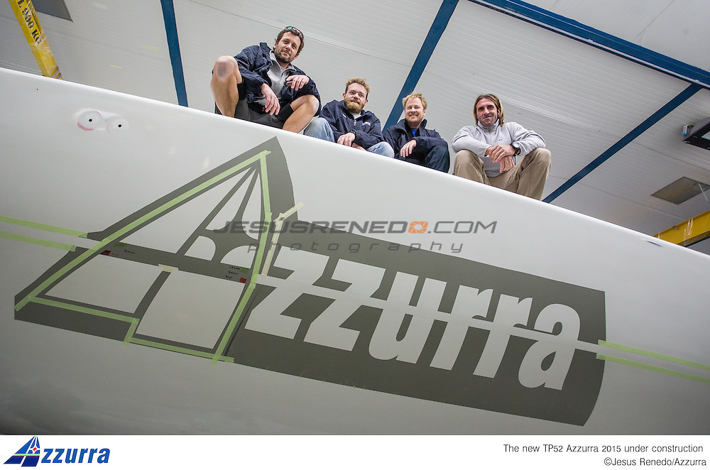 Tp 52 Azzurra 2015, desgined by Botin and build in King Composites, Valencia. ©jesus renedo