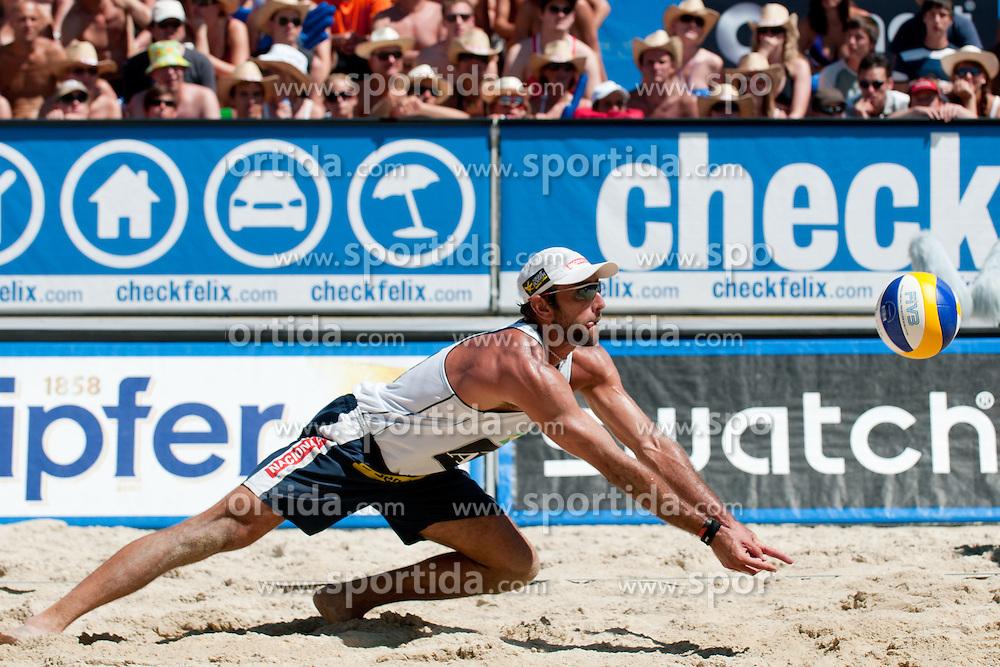 Marcio Araujo of Brazil at A1 Beach Volleyball Grand Slam tournament of Swatch FIVB World Tour 2010, bronze medal, on August 1, 2010 in Klagenfurt, Austria. (Photo by Matic Klansek Velej / Sportida)