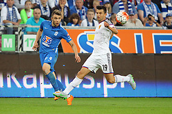 29.07.2015, INEA Stadion, Poznan, POL, UEFA CL, Lech Poznan vs FC Basel, Qualifikation, 3. Runde, Hinspiel, im Bild (L) DARIUSZ FORMELLA (P) BEHRANG SAFARI // during the UEFA Champions League Qualifier, third round, first Leg match between Lech Posen and FC Basel at the INEA Stadion in Poznan, Poland on 2015/07/29. EXPA Pictures © 2015, PhotoCredit: EXPA/ Newspix/ Wojciech Klepka<br /> <br /> *****ATTENTION - for AUT, SLO, CRO, SRB, BIH, MAZ, TUR, SUI, SWE only*****