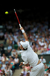 LONDON, ENGLAND - Sunday, July 4th, 2010: Tomas Berdych (CZE) during the Gentlemen's Singles Final match on day thirteen of the Wimbledon Lawn Tennis Championships at the All England Lawn Tennis and Croquet Club. (Pic by David Rawcliffe/Propaganda)