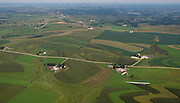Aerial view of rural southwest Wisconsin on a beautiful summer day.