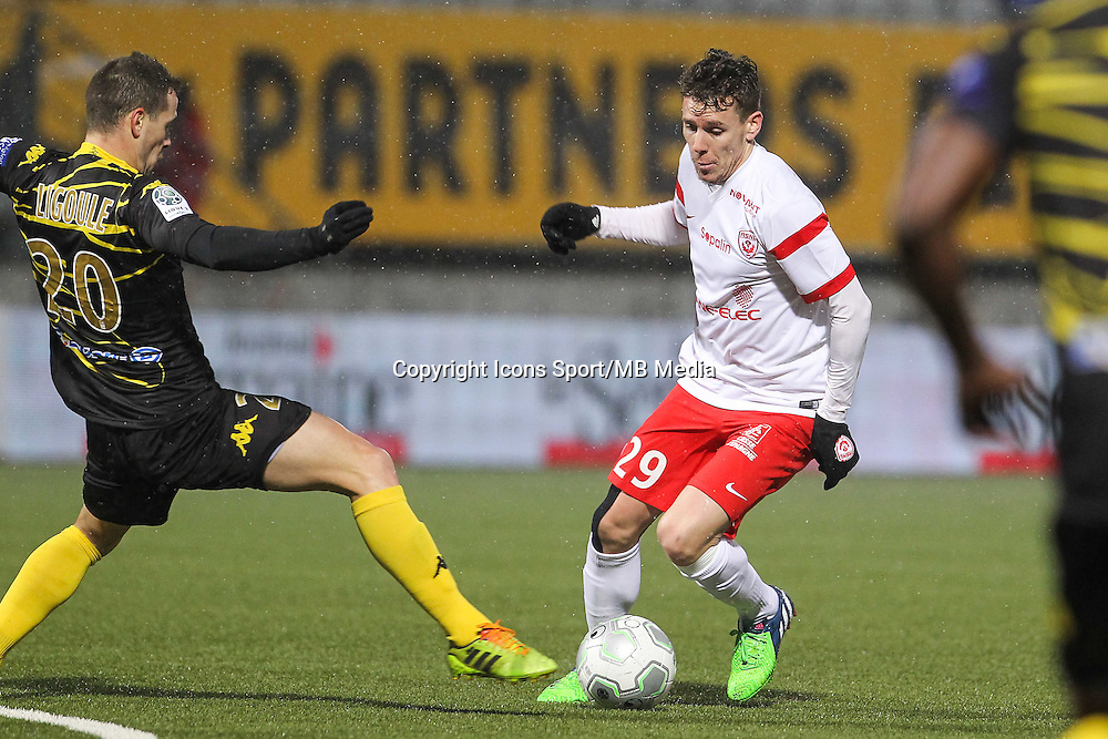 Romain GRANGE - 19.01.2015 - Nancy / Orleans - 20e journee Ligue 2<br /> Photo : Fred Marvaux / Icon Sport