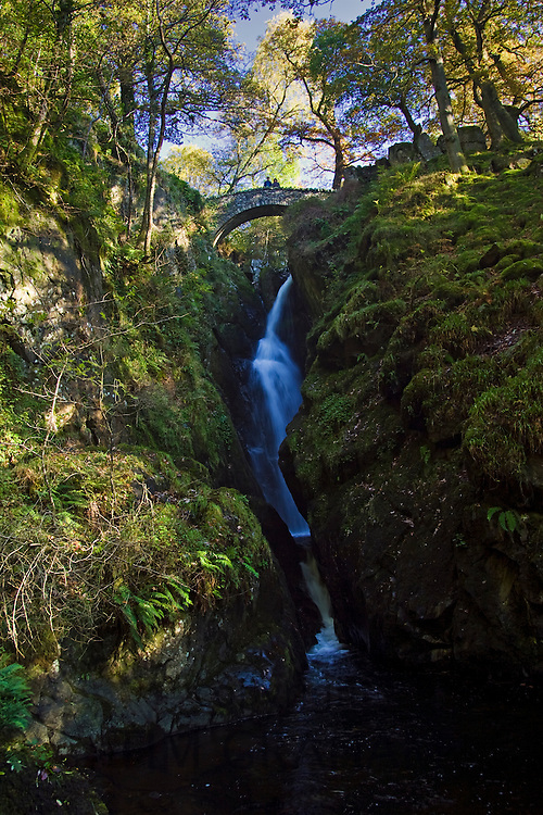 Aira Force Waterfall, Lake District, England, United Kingdom