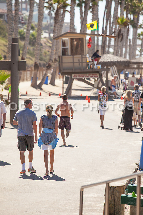 People Walking the San Clemente Beach Trail at the Pier