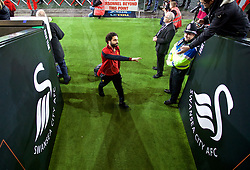 SWANSEA, WALES - Monday, January 22, 2018: Liverpool's Mohamed Salah before the FA Premier League match between Swansea City FC and Liverpool FC at the Liberty Stadium. (Pic by David Rawcliffe/Propaganda)