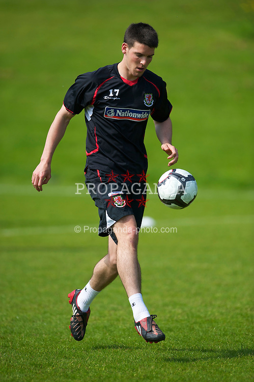 CARDIFF, WALES - Friday, May 21, 2010: Wales' Mark Bradley during a training session at the Vale of Glamorgan Hotel ahead of the International Friendly match against Croatia. (Pic by David Rawcliffe/Propaganda)