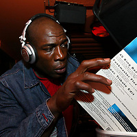 Bruno at The Ice Factory...13.4.2003<br />Heavyweight DJ Frank Bruno picks his next track from his boxes of records, in the Casbah, one of the bars at the Ice Factory nightclub in Perth, in the early hours of Sunday morning.<br /><br />Picture by John Lindsay .<br />COPYRIGHT: Perthshire Picture Agency.<br />Tel. 01738 623350 / 07775 852112.