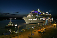 The new Celebrity Cruises 2,850-guest Celebrity Equinox  today left shipbuilder Meyer Werft in Papenburg, Germany, to make the 42-km transit  down the River Ems.