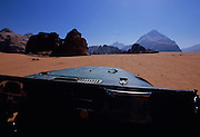 Jeep ride across the desert - Wadi Rum,  Jordan.