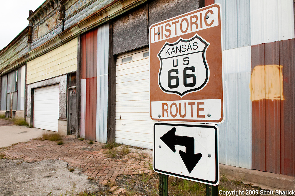 Route 66 sign in Kansas. Missoula Photographer