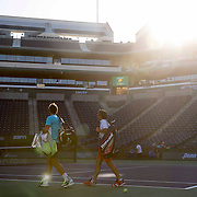 March 9, 2015, Indian Wells, California:<br /> Rafael Nadal walks onto Stadium 1 court during a practice session at the Indian Wells Tennis Garden in Indian Wells, California Monday, March 9, 2015.<br /> (Photo by Billie Weiss/BNP Paribas Open)