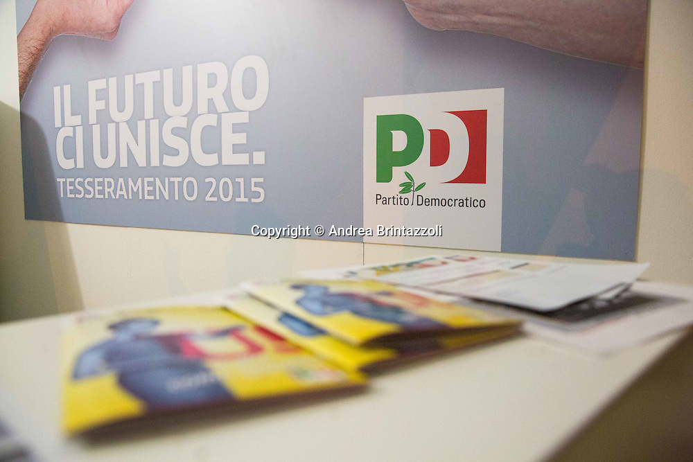 Bologna 21 Aprile 2015 Festa Nazionale dell&rsquo;Unit&agrave; - 70 anni di Feste <br /> Nella Foto: Tesseramento 2015