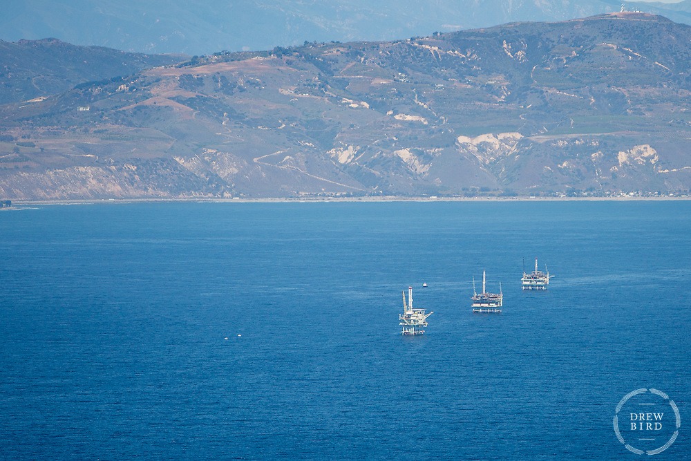 Santa Barbara Oil Spill | Off shore Oil Rigs near Santa Barbara, CA | Climate Stories | Conservation Photographer <br />