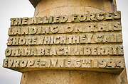 World Ware II D-day monument on Omaha Beach, Normany, France