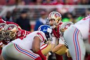 San Francisco 49ers quarterback C.J. Beathard (3) calls out plays against the New York Giants at Levi's Stadium in Santa Clara, Calif., on November 12, 2017. (Stan Olszewski/Special to S.F. Examiner)