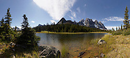 The Ramparts from Surpise Point campground in the Tonquin Valley, Jasper National Park