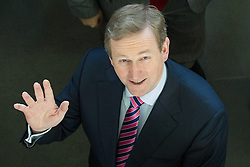 © Licensed to London News Pictures . 10/03/2014 . Manchester , UK . ENDA KENNY At the Irish World Heritage Centre in Cheetham Hill , Manchester . The Taoiseach ( Prime Minister of Ireland ) , ENDA KENNY , on a visit to Manchester today (10th March 2014) . Kenny Photo credit : Joel Goodman/LNP