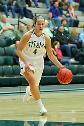 06 December 2017:  Rebekah Ehresman during an NCAA women's basketball game between the Wheaton Thunder and the Illinois Wesleyan Titans in Shirk Center, Bloomington IL