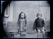 casual portrait of two girls France 1926