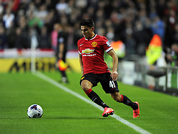 Manchester United's Reece James - Photo mandatory by-line: Joe Meredith/JMP - Mobile: 07966 386802 26/08/2014 - SPORT - FOOTBALL - Milton Keynes - Stadium MK - Milton Keynes Dons v Manchester United - Capital One Cup