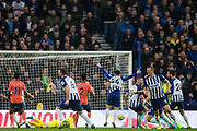 GOAL Pascal Gross (Brighton) scores a goal to give Brighton the lead during the Premier League match between Brighton and Hove Albion and Everton at the American Express Community Stadium, Brighton and Hove, England on 26 October 2019.