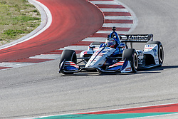 February 12, 2019 - U.S. - AUSTIN, TX - FEBRUARY 12: Graham Rahal (15) in a Honda powered Dallara IR-12 exits turn 2 during the IndyCar Spring Training held February 11-13, 2019 at Circuit of the Americas in Austin, TX. (Photo by Allan Hamilton/Icon Sportswire) (Credit Image: © Allan Hamilton/Icon SMI via ZUMA Press)
