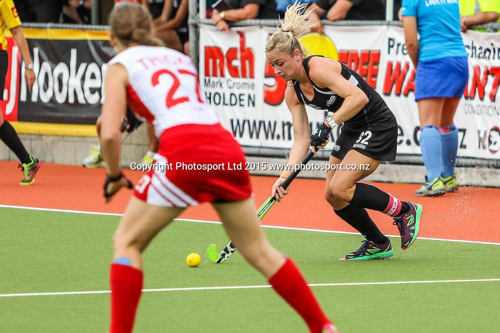 Anita Punt in action. International Womens Hockey. New Zealand Black Sticks v Canada. Whangarei. New Zealand. Sunday 8 February 2015. Copyright Photo: Heath Johnson / www.photosport.co.nz