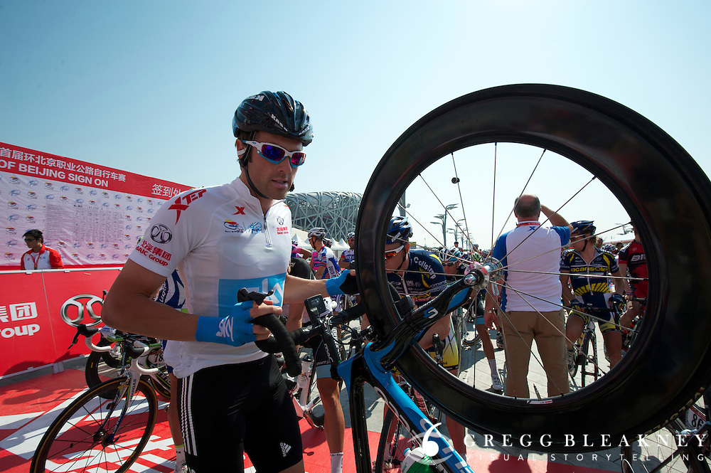 Alex Dowsett in his Best Young Rider jerey -- 2011 Tour of Beijing Stage 2