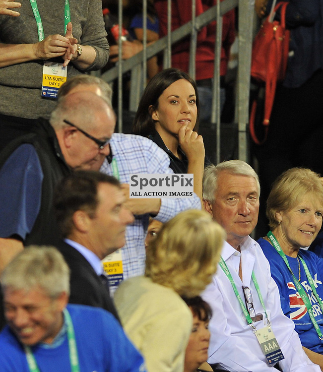 Scottish Labour leader Kasia Dugdale was among the spectators to watch Andy Murray in action in the 4th rubber between Great Britain v Australia, Semi Finals,  Aegeon Davis Cup by BNP Paribas, Sunday 20 September 2015 (c) Angie Isac | SportPix.org.uk