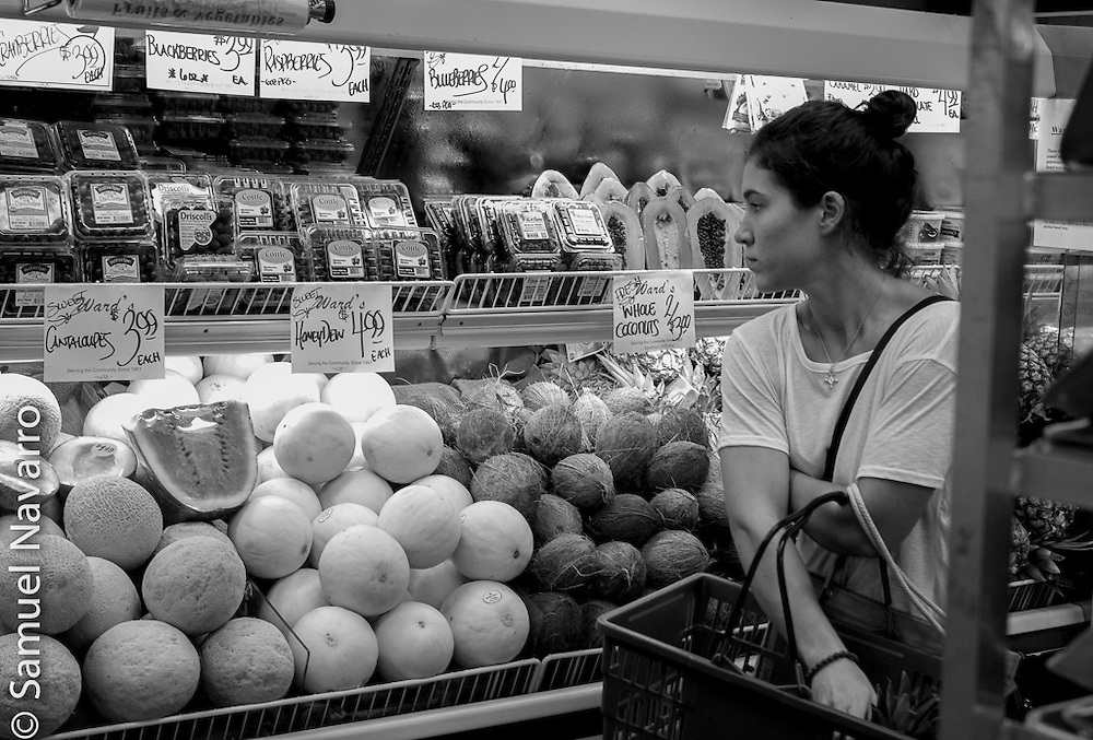 "To keep a good relationship with her body, Ulmer, who loves cooking and has a ""sweet tooth"" as well, tries to go grocery shopping to local organic stores.(photo by Samuel Navarro)"