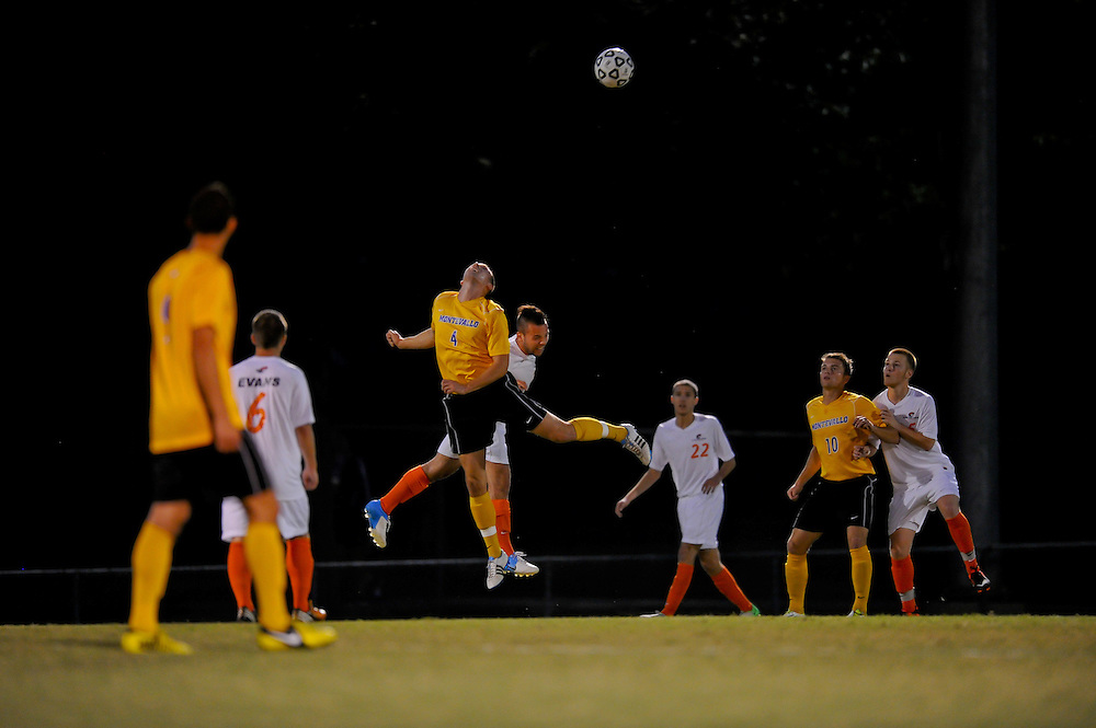 Sept. 26, 2012; Morrow, GA, USA; Clayton State men's soccer player Eilliot Prost during the game against the Montevallo at CSU. Photo by Kevin Liles/kdlphoto.com