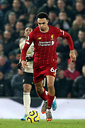 Liverpool defender Trent Alexander-Arnold (66) during the Premier League match between Liverpool and Manchester United at Anfield, Liverpool, England on 19 January 2020.