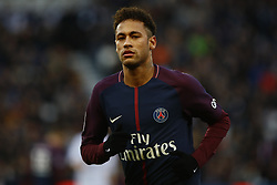 February 17, 2018 - Paris, France - Neymar Jr of Paris Saint-Germain  during the Ligue 1 match between Paris saint-Germain and Strasbourg at Parc des Princes on February 17, 2018 in Paris, France. (Credit Image: © Mehdi Taamallah/NurPhoto via ZUMA Press)