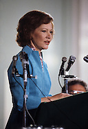 First lady Rosalynn Carter testifying before a committee of the House of Representatives   in May 1979.<br /> <br /> Photograph by Dennis Brack<br /> bb45