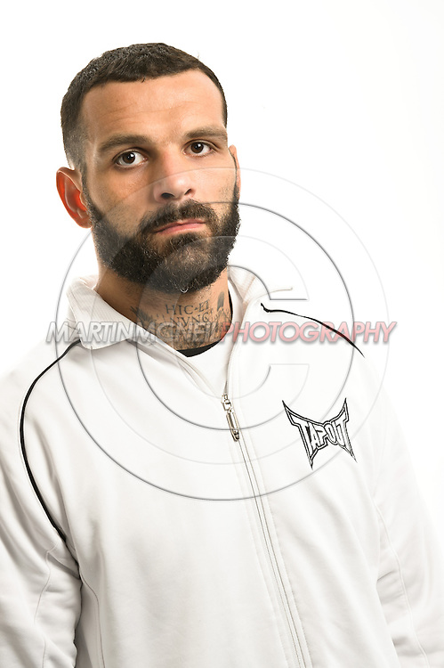 A portrait of middleweight mixed martial arts athlete Alessio Sakara