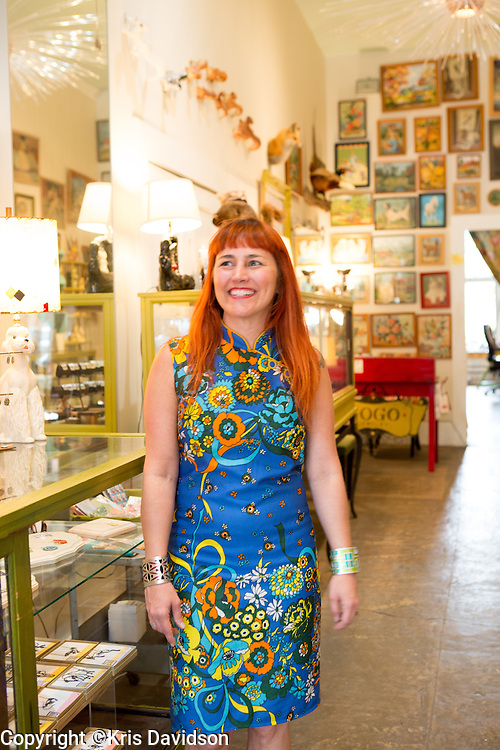 Jewelry designer Gogo Borgerding in her studio and store in the Lower Garden District in New Orleans. For more information, visit: http://www.ilovegogojewelry.com