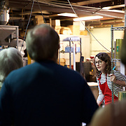 Rachel leads a highly informative tour about the world of coffee at the Slow Food ABQ + Red Rock Roasters Coffee tasting 101 event.